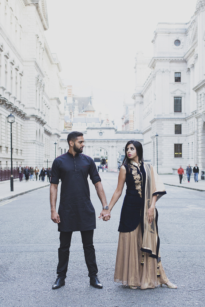 ana gely female asian wedding photographer engagement london city autumn indian bride and groom westminster
