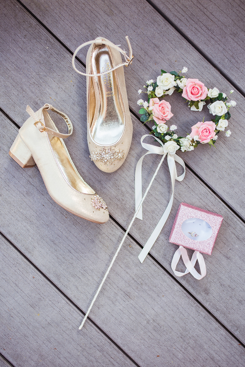 ana gely wedding photography photographer london runnymede on thames flowergirl shoes details