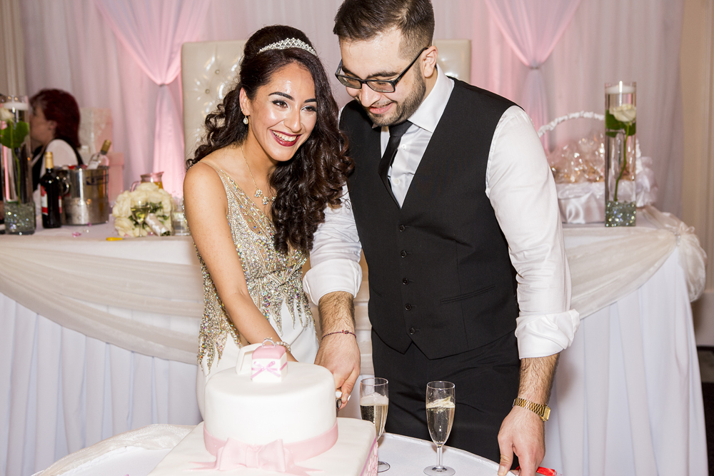 ana gely turkish engagement photography london grand palace banqueting suite bride groom cake